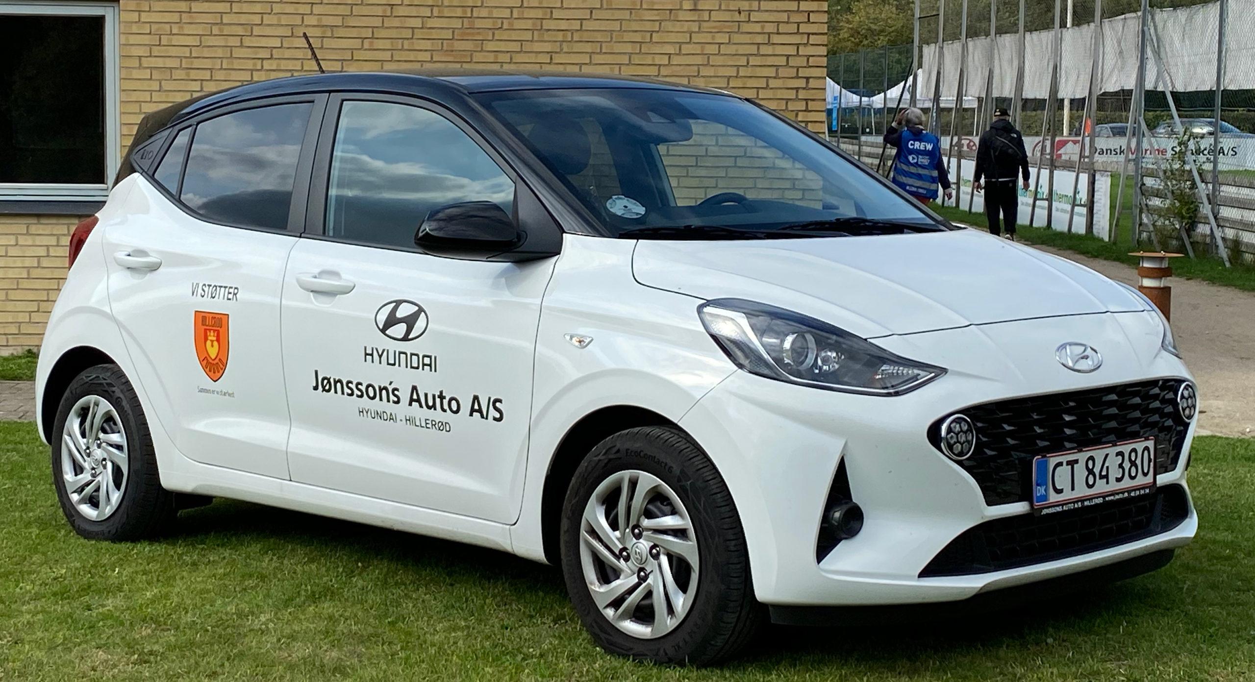 Hyundai i1+ sponsorbil